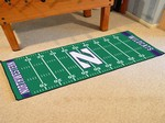 Northwestern University Wildcats Football Field Runner