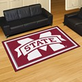 Mississippi State University Bulldogs 5x8 Rug