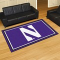 Northwestern University Wildcats 5x8 Rug