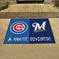 Chicago Cubs - Milwaukee Brewers House Divided Rug