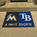 Miami Marlins - Tampa Bay Rays House Divided Rug