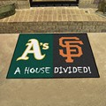 Oakland Athletics - San Francisco Giants House Divided Rug