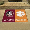 Florida State Seminoles - Clemson Tigers House Divided Rug