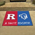 Rutgers Scarlet Knights - Seton Hall Pirates House Divided Rug