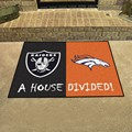 Oakland Raiders - Denver Broncos House Divided Rug