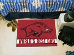 University of Arkansas World's Best Dad Starter Rug