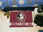Florida State University World's Best Dad Starter Rug