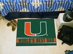 University of Miami World's Best Dad Starter Rug
