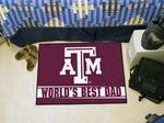Texas A&M University World's Best Dad Starter Rug
