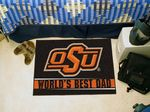 Oklahoma State University World's Best Dad Starter Rug