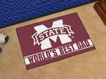 Mississippi State University World's Best Dad Starter Rug