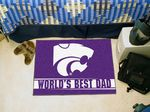 Kansas State University World's Best Dad Starter Rug