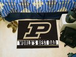 Purdue University World's Best Dad Starter Rug