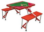 Philadelphia Phillies Baseball Picnic Table with Seats - Red
