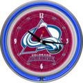 Colorado Avalanche Neon Wall Clock