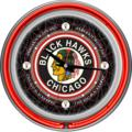 Chicago Blackhawks Vintage Logo Neon Wall Clock
