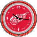 Detroit Red Wings Neon Wall Clock