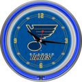 St. Louis Blues Neon Wall Clock