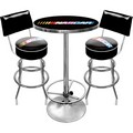 NASCAR Game Room Combo - 2 Bar Stools with Backs & Table