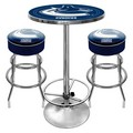 Vancouver Canucks Game Room Combo - 2 Bar Stools and Table