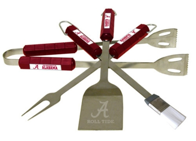 Alabama Crimson Tide 4 Piece BBQ Set - Click Image to Close