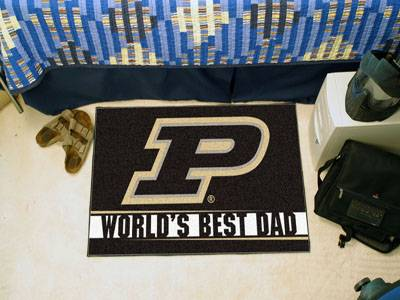 Purdue University World's Best Dad Starter Rug - Click Image to Close