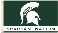 "Michigan State ""Spartan Nation"" 3' x 5' Flag with Grommets"