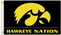 "University of Iowa ""Hawkeye Nation"" 3' x 5' Flag with Grommets"