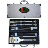 University of Miami 8 pc BBQ Set