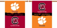 "Clemson - South Carolina 2-Sided 28"" X 40"" House Divided Banner"