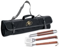 University of Colorado Buffaloes 3 Piece BBQ Tool Set With Tote