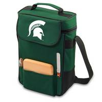 Michigan State Spartans Duet Wine & Cheese Tote - Green