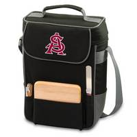 Arizona State Sun Devils Embr. Duet Wine & Cheese Tote - Black
