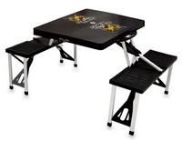 Colorado College Tigers Folding Picnic Table with Seats - Black