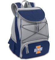 Illinois Fighting Illini PTX Backpack Cooler - Navy
