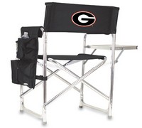 Georgia Bulldogs Sports Chair - Black Embroidered