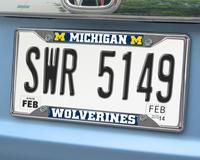 Michigan Wolverines Chromed Metal License Plate Frame