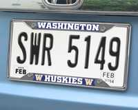 Washington Huskies Chromed Metal License Plate Frame