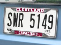 Cleveland Cavaliers Chromed Metal License Plate Frame