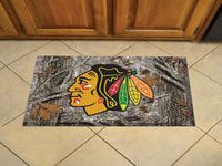 "Chicago Blackhawks Scraper Floor Mat - 19"" x 30"" Camo"