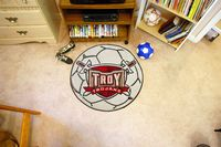 Troy University Trojans Soccer Ball Rug