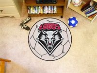 University of New Mexico Lobos Soccer Ball Rug