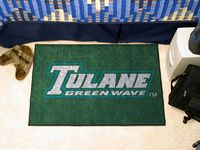 Tulane University Green Wave Starter Rug