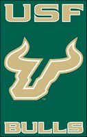 "University of South Florida 44"" x 28"" Applique Banner Flag"